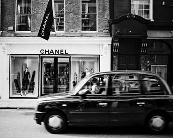 chanel print, chic stylish,London photography, black and white photography, classic Chanel,  Stylish decor, Chanel photography,