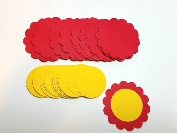 Items Similar To Die Cut Flower Shapes. #BU-8 On Etsy