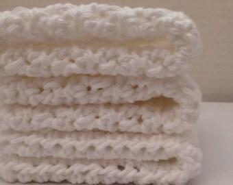 Crochet Dishcloth, Crochet Washcloth, Cotton Crochet Dishrags, Washcloth Crochet Dishcloth, Crochet Dish Cloth, Set of 3 Dishcloths