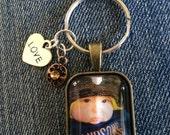 Photo keychains/zipper pulls