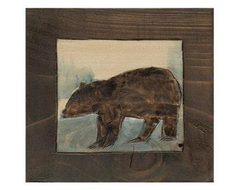 Brown Bear Art Print, Brown Bear Wall Art, thepaintedgrove