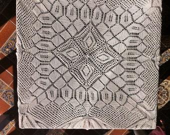 Beautiful ECRU Crochet Table Center