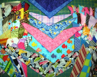 100 DOG GROOMING BANDANNAS  25 Small 50 Medium 25 Large  Everyday Pet Scarf Bandana Tie On finished with a rolled edge.