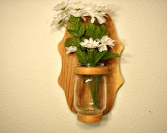 Cedar Mason Jar Holder