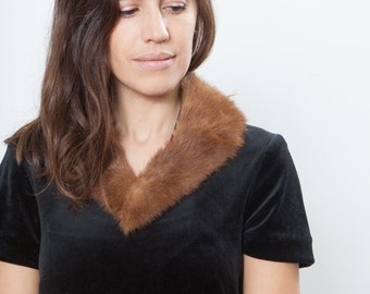 Costa vintage tiny fur mink collar