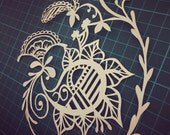 PERSONAL USE - Cut it yourself papercut template 'Paisley Delight'