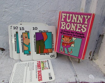 Funny Bones Card Game 1968 . Parker Brothers. Vintage and in Nice Condition