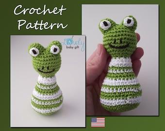Amigurumi Pattern Crochet, Frog, Pdf Crochet Pattern, Animal Crochet, CP-101