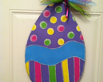 A fun colorful Easter egg that can be personalized for FREE, please choose either PURPLE or PINK.
