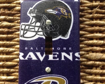 Baltimore Ravens football switch plate