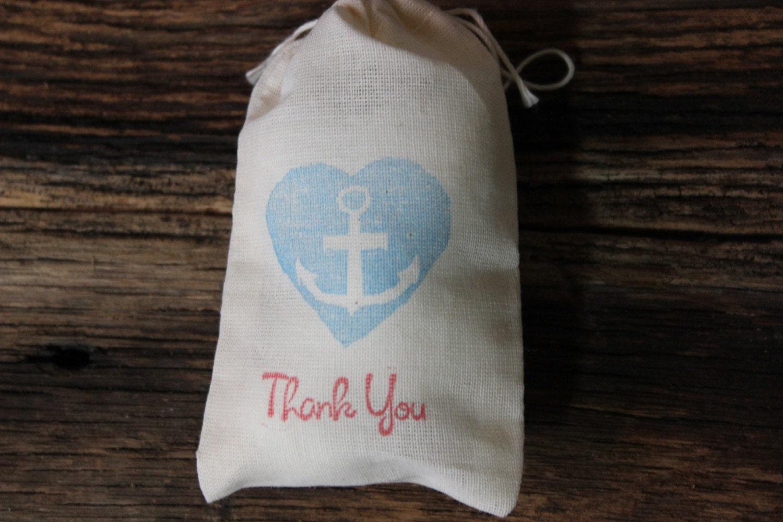Wedding Gift Bags Favors : Nautical Anchor Wedding Favor Bags Hand by MountainUrsusDesigns