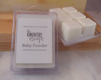 Baby Powder Scented 100% Soy Wax Clamshell Melt - Pure Clean Scent -Maximum Scented