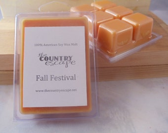 Fall Festival Scented 100% Soy Wax Clamshell Melt - Amazing Scent - Maximum Scented
