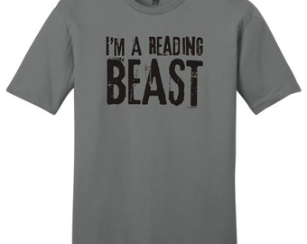 I'm A Reading Beast Young Men's T-Shirt DT6000 - RV-112