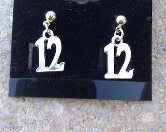 Seahawks earrings  Simply 12