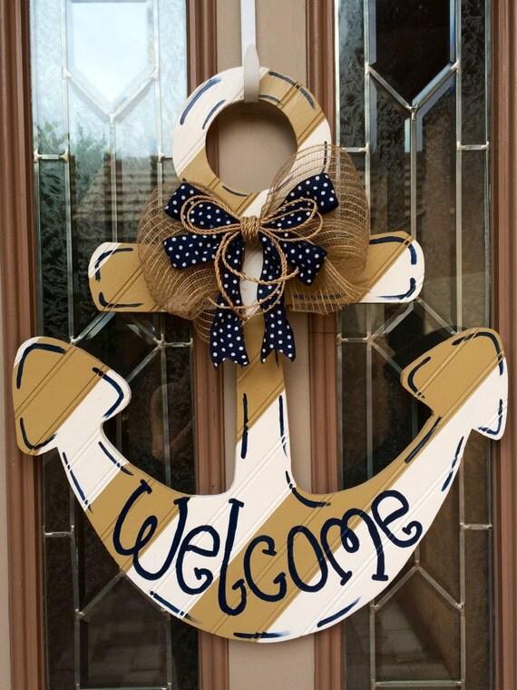Anchor welcome door decoration for Anchor door decoration