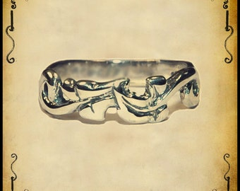 Lady medieval ring - Sterling silver 925