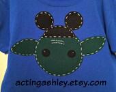 READY TO SHIP-Yoda Goes to Disney World, Star Wars, Size 5/6 royal blue tee