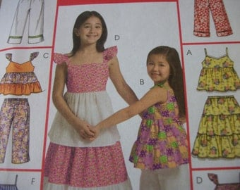 McCall M5310 Children's ( size CCE 3,4,5,6)top, skirt and pants