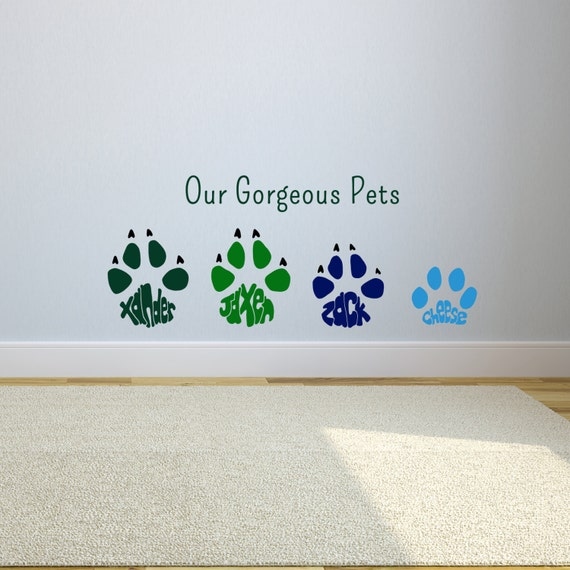 paw print wall stickers grey pawprint pattern wall sticker by admin cp49789583