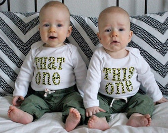 This one and that one twin onesies