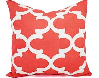 Quatrefoil Pillow Cover - Pillow Covers - Decorative Pillows for Couch - Coral Pillow Sham - Trellis Pillow - Home Decor Pillow