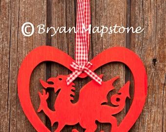 Welsh dragon Heart - Calon Draig Goch