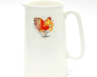 Buff Orpington Chicken Jug,  Barnyard Pitcher, Country Kitchen, Chicken Gift