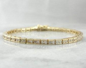 Vintage Channel Set Diamond Tennis Bracelet-Q35XTP