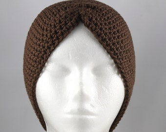 Chocolate Brown Turban Hat for Cancer Patients
