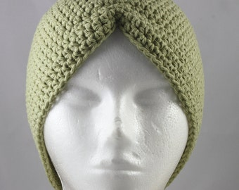 Moss Green Turban Hat for Cancer Patients