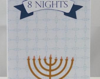 8 Nights Hanukkah Card