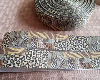 SALE- 1' Chetah, Zebra ribbon-print ribbon-boutique ribbon-crafting ribbon