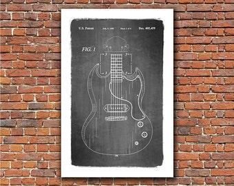 Gibson SG Electric Guitar Patent Art Print