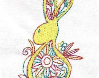 Instant Download Bunnies and Eggs 4x4 Embroidery Design