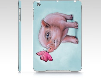 Mini pig iPad case,  pig iPad Mini 1, mini pig iPad Air, pig ipad case, polycarbon ipad case, designer ipad case, pig iPad air case, pig
