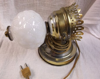 Vintage Milk Glass Wall Sconce