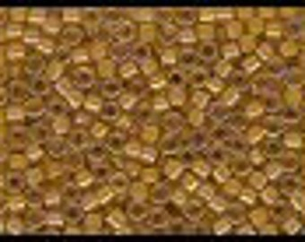 11/0 Delica Miyuki Glass Beads - 7 grams   Light Amber/Amber DB 272