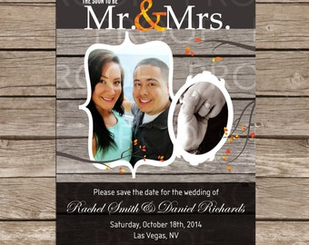 Custom Fall Themed Save The Date