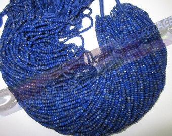 Lapis Lazuli faceted rondelle 3-4mm 140 pieces         AAA  quality
