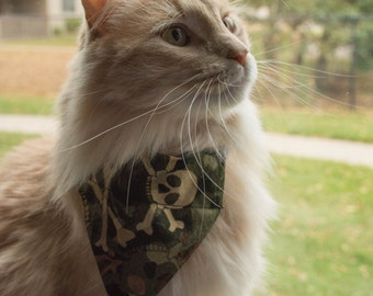 Pet Bandana with Camouflage skulls in a Size XX-Small