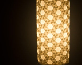 "Origami Tessellation Luminary Lamp - ""Hive"""