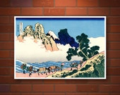 Japanese art, Hokusai 36 Views of Mount Fuji Minobu river, Japan landscapes art prints, posters, paintings, woodblock prints reproductions