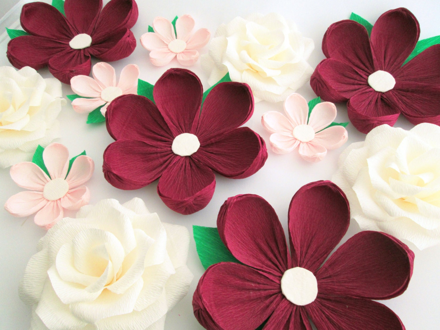 12 Paper Flowers Wall Flowers Arch Flowers Wedding Decoration