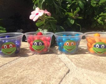 25 Teenage Mutant Ninja Turtle Snack Cups-4 oz.