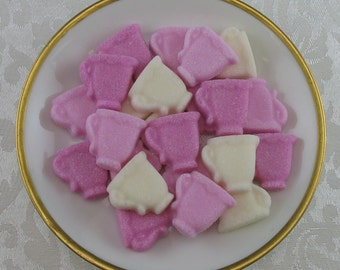 36 Pink Mini Teacup shaped sugar cubes for tea party, shower, coffee, tea, party favor, bridal, hostess gift