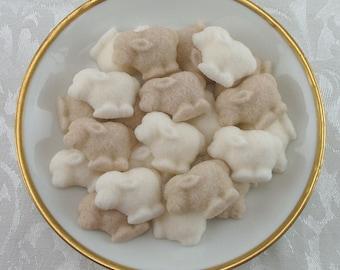 30 Little Lamb shaped sugar cubes Gender Neutral for little lamb shower, tea party, coffee, tea, party favor, lamb party, baby shower