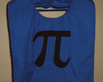 Pi Symbol Adult Bib