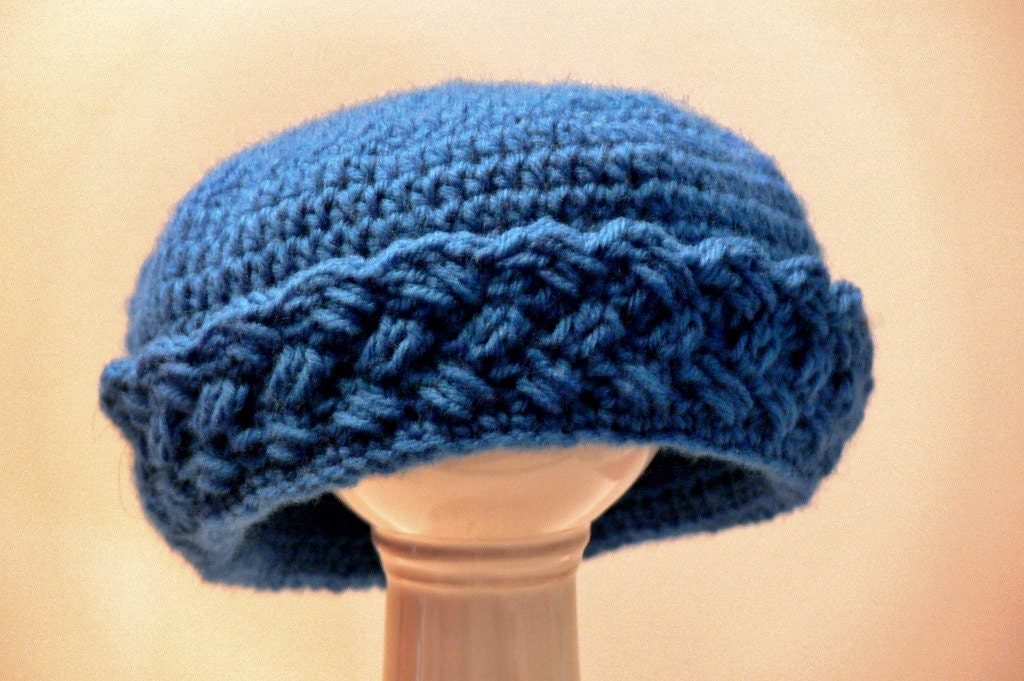 Crochet Pattern Womens Hat : Crochet Pattern Womens Hat Girls Hat with Brim Winter Hat