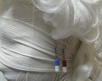 Medical capsule earrings
